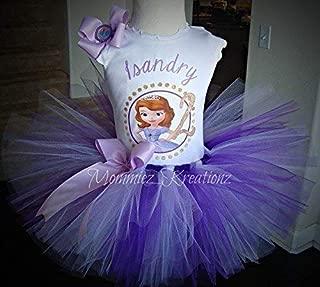 Sofia the First Tutu Set,Princess Sofia Birthday Outfit,Sofia The 1st Tutu