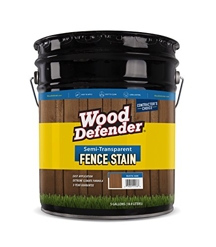 Wood Defender - Semi-Transparent Fence Stain- Sierra - 5 Gallon