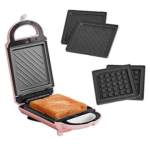 AYHa Multi-Funktions-Elektro-Sandwich-Hersteller, Electric Press Grill mit Verschlussdeckeln, Non-Stick Frühstück Maschine, Französisch Toast und Merguez, Omelett, Weitere Desserts