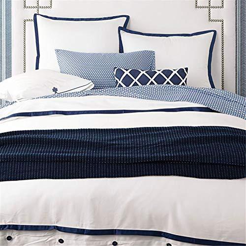 KYEEY Quilt Set Vier Sätze Bettwäsche Set Kissenbezug Baumwolle Stickerei Satin Geeignet für Home Interior Home Bettwäsche Bettwaren Artikel (Size : 1.8m)
