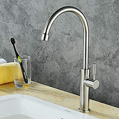 ZXY-NAN Brass Brushed Vintage Basin Faucet Orb Basin Faucet Square and Cold Under Counter Basin Faucet European Bathroom Single Hole Gold/Silver/Black/Ceramic/Chrome Faucet Water Filters