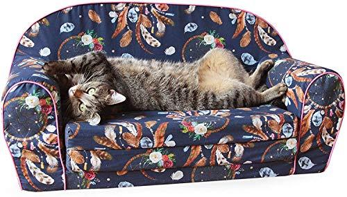 MuseHouse - Haustiersofa Haustierbett - Perfekt für Hund und Katze - bequemer, beruhigender und geschmackvoller Schaumstoffsessel - Katzen, Welpen und Kleinhunde