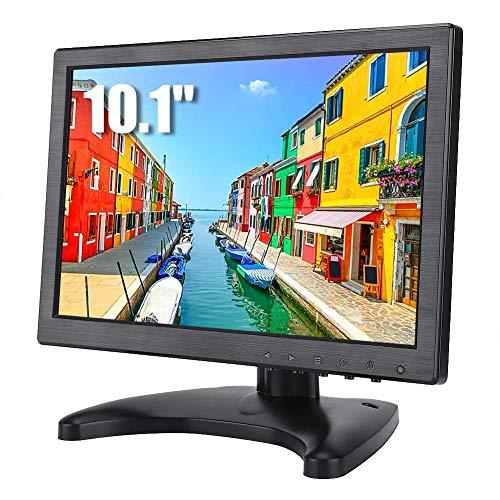 10.1 inch LCD-monitor Draagbaar scherm 1920 * 1200 resolutie 16:10 Full HD gaming-monitor met monitorhouder, CCTV HDMI-monitor voor thuiskantoor PC-ondersteuning HDMI/VGA/AV/BNC video-ingang
