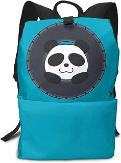 タイヤで遊ぶパンダ リュック 通学 リュックサック 軽量 バックパック 大容量 ボディバッグ PCバック 収納 おしゃれ 男女兼用 アウトドア 旅行 人気 高校生 耐久性 プレゼント