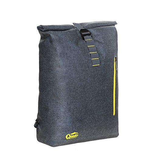 Qeedo Kuriertasche Dry Downtown, Rucksack, Wasserdicht, Farbe: Grau, Backpack, Leicht, Robust