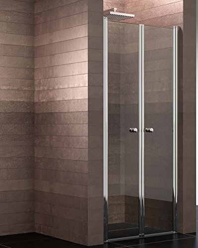 Schulte Duschkabine Garant Pendeltür Nische, 90 x 200 cm, 6 mm Sicherheitsglas beschichtet, Profile chrom-optik, Montage auf Duschwanne oder Fliese