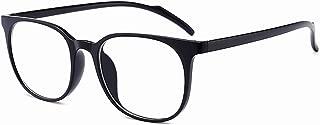 ANRRI Blue Light Blocking Computer Glasses for UV Protection Anti Eyestrain Anti Glare Lens Lightweight Frame Eyeglasses Black Frame, Men/Women