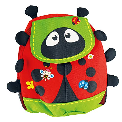 Bieco Kinderrucksack Käfer | ca. 38x15x36 cm | Kindergartenrucksack | Rucksack Kinder | Wanderrucksack Kinder | Mini Rucksack | Rucksack Kindergarten | Rucksack Mädchen | Rucksack Jungen | Rucksäcke