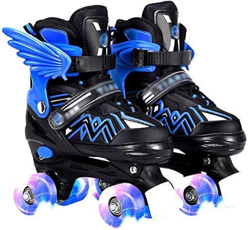 Online Skates Boys/Girls Lead Wheels Wheels Barn Vuxen Vuxen Vuxen Vuxen Vuxen Vuxen (Color : Blue, Size : Large 37-41)