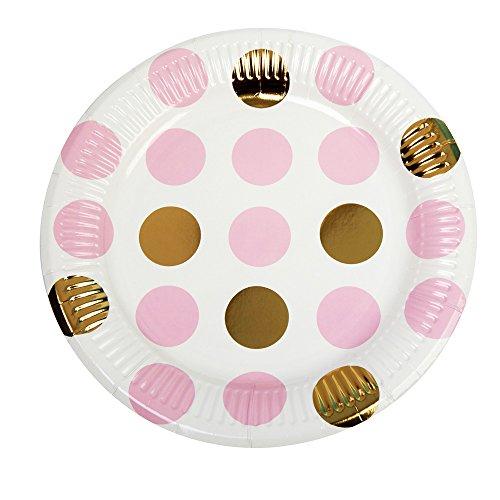 Neviti Pattern Works Partyteller, Punkte, Pink