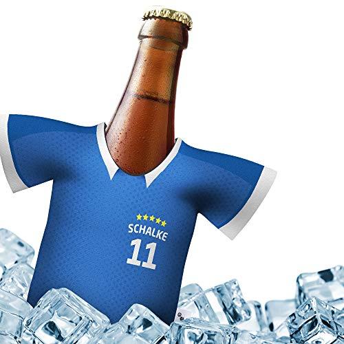 Herren Trikot 2019/20 kühler Home für S04 Fans   FUßBALL-Gott   1x Trikot   Fußball Fanartikel Jersey Bierkühler by Ligakakao