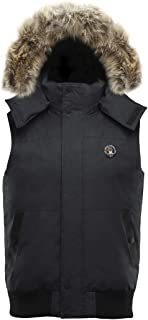 Triple F.A.T. Goose SAGA Collection   Huntley Mens Down Vest with Real Coyote Fur