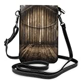 Jiger Women Small Cell Phone Purse Crossbody,Old Wooden Rustic Home Cottage Rural Countryside Grunge Rusty Indoors