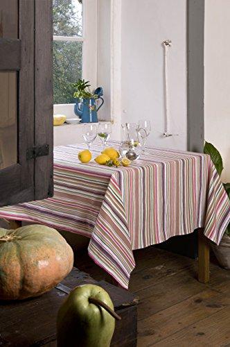 Atenas Home Textile Moira - Mantel antimanchas, redondo diametro 160cm, color amarillo