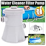XZTT Water Cleaner Filter Pump - 110V Electric Filter Pump Swimming Pool Filter Pump Water Clean Dirty Pool Pond Pumps Filter/Clear Cartridge Filter Pump for Above Ground Pools (Gray)