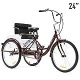 HIRAM 3 Wheeled Adult Tricycle   Folding Rear Basket & Child Seat...