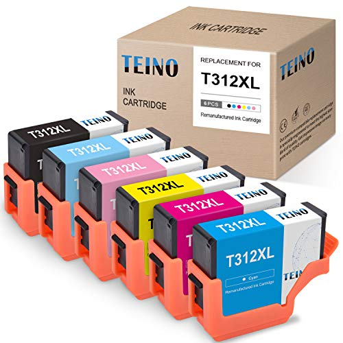 TEINO Remanufactured Ink Cartridges Replacement for Epson 312XL 312 XL T312XL use with Epson Expression Photo XP-8500 (Black, Cyan, Magenta,...