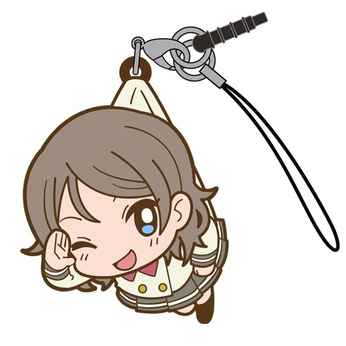 Love Live Sunshine You Watanabe in Aquarium Costume COSPA Pinch Tsumamare Phone Strap Charm with Dust Plug Anime Art Collection
