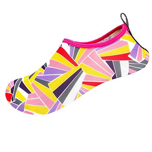 Faionny Men Shoes Women Swim Shoes Non-Slip Water Socks Yoga Shoes Beach Dance Sport Shoes Slip On Sneakers Yellow