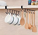 EigPluy Mug Holder Under Cabinet Adhesive Cup Hooks Drilling Free Coffee Cups Holder Kitchen Utensil Storage Shelf Ties Belts Scarf Hanging Rack