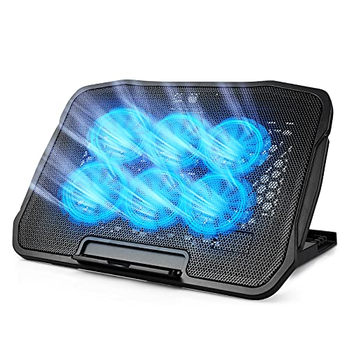 Laptop Cooling Pad, Laptop Cooler with Led Fans for Inch Laptop Cooling Fan Stand, Portable Ultra Slim USB Powered Gaming Laptop Cooling Pad, Switch Control Fan Speed Function
