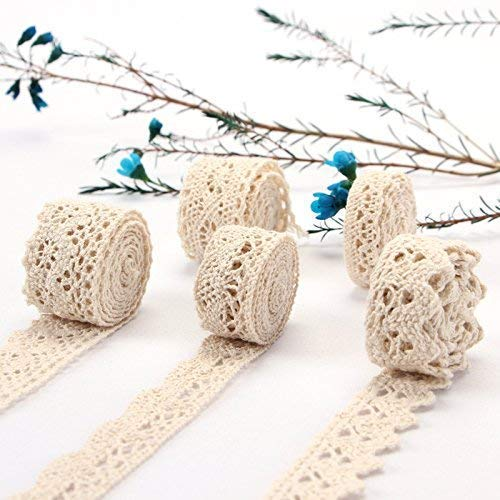Best Prices! ToBeIT Cotton Lace Trim DIY Craft Delicate Ribbon Scallop Edge for Scrapbooking Gift Pa...