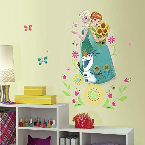 Sticker Géant Repositionnable Disney la Reine des Neiges Groupe Graphique