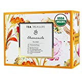 TeaTreasure USDA Certified Organic Pure Chamomile Tea - Calming & Soothing Sleep Tea for Stress and...