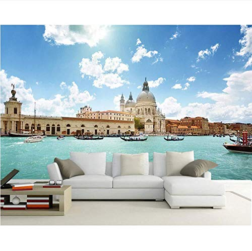 Europees behang Venetië landschap fotobehang wandschilderij woonkamer behang 3D slaapkamer DIY vinyl/zijde behang (W)300x(H)210cm (W) 300 x (H) 210 cm