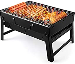UTTORA Charcoal Grill Barbecue Portable BBQ – Stainless Steel Folding Grill..