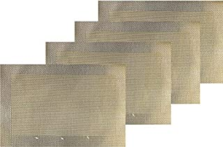 Dainty Home Napa Waterpoof Textilene Placemats Set of 4, Gold