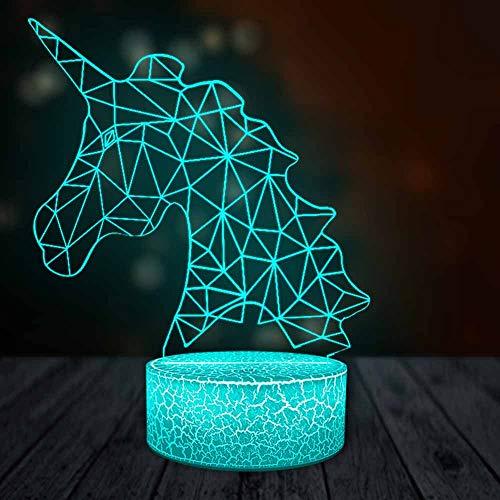 Línea de dibujos animados serie de cabeza de caballo 3D iluminación LED lámpara de mesa de dormitorio lindo regalo romántico lindo fiesta familiar lámpara de decoración para niños