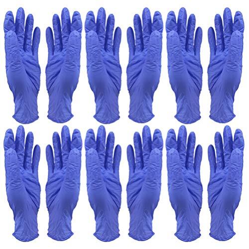 Healifty 20 Stück Einweghandschuhe Weiche Industriehandschuhe Geschirrspülmittel Reinigungshandschuhe Pulverfrei zum Kochen in Der Küche Umgang mit Lebensmitteln M (Blau)