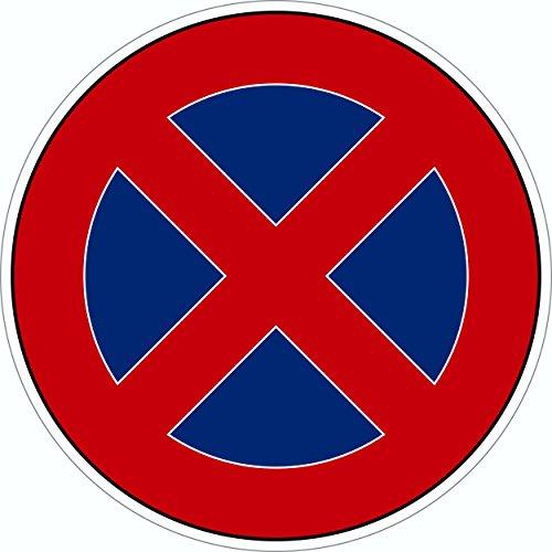 Plaque de porte arrêt interdit autocollant Ø 95 mm