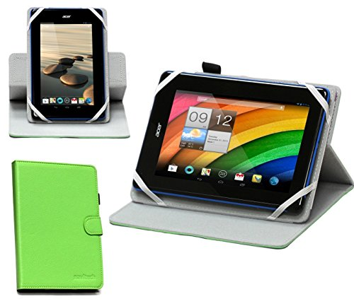 Navitech 7 Inch Green Faux Leather Rotational Case Cover Compatible With The VTech InnoTab 3 Blue / LeapFrog LeapPad Ultra / Hello Kitty 7' / Moshi Monsters 7 / Lexibook 7 Kids / Tesco Hudle / Kurio 7x 4G LTE Tablet Compatible With The Kids / Monster High 7-inch Premium Tablet