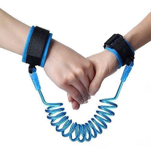 LAAT Kleinkind Baby Sicherheit Anti-Lost Handgelenk Link Kind Sicherheitsgurt Gürtel/Strap Seil Orange und Blau 150CM 250CM
