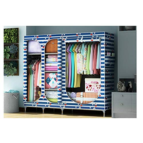 LJP Armario de tela portátil para armario, organizador de almacenamiento de tela para dormitorio, para colgar ropa y armario (color: G)