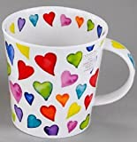 Dunoon - Tazza Cairngorm Warm Hearts in Bone China, 11 cm, 0,48 l