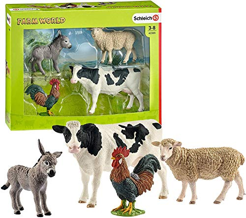 Schleich Farm World 4-Piece Farm Animals Set for Toddlers and Kids Ages 3-8