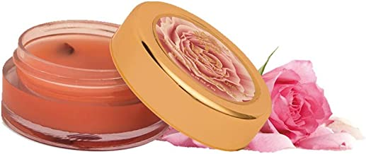 Khadi Essentials Wild Rose Lip Butter with Rose Petals, Cocoa Butter and Turmeric Oil, For Dry Chapped Lips and Lip Lightening, 5gms SLS Paraben Free Lip Balm