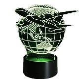 Fly Earth 3D Lampe / 7 Farbwechsel/Touch Schalter Nachtlicht/Luminaria Atmosphäre Lampe/Schlafzimmer Licht/Geschenk Lava Lampe3D