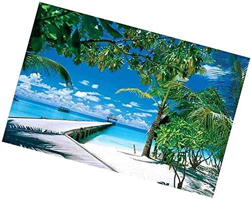 ZHHk Puzzles Jigsaw Puzzle for Adultes Et Enfants 1000 Pièces De Bricolage en Bois Puzzle Gift Set, 75X50Cm Perfect Home Décoration Plage Hawaïenne Palmier...