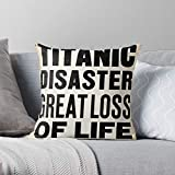 Sailing Boat Ship Sink Newspaper Iceberg Titanic Headline I Fsgfunnyhouse-The Most Impressive Printed Square Throw Pillow case for Home and car Sofa Decoration