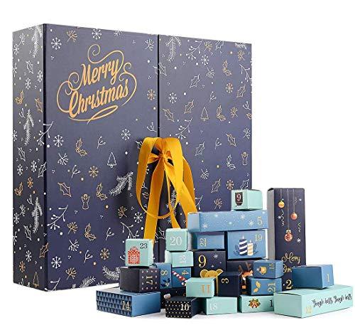 QYY Calendario dell'Avvento da Riempire, Cartone, Scatole Regalo di Natale, per Feste Natalizie Forniture,Ottime Come Regalo per Bambini