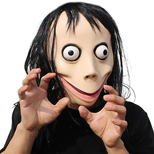 PartyHop Halloween Kostüm Party Kopf Latex Maske Unheimlich Momo
