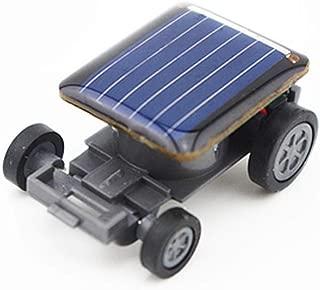Wenini 2Pcs Solar Power Energy Mini Cars - World's Smallest Solar Powered Car Racer Educational Solar Powered Toy Kids Birthday Festival Gift (Black)