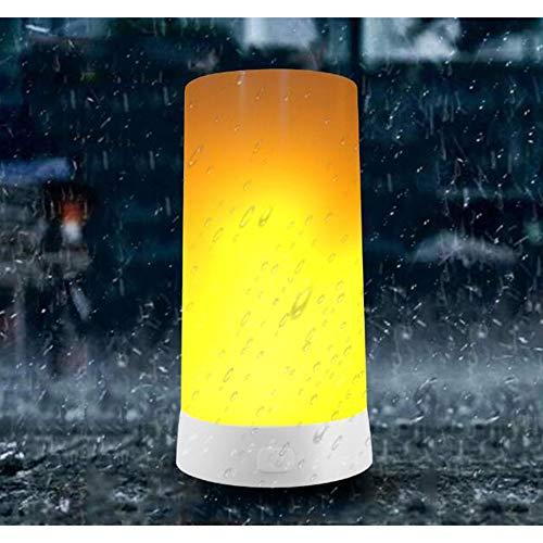 Lampe de table flamme LED, lampe décorative, USB de charge, portable aimant bar, restaurant bar hôtel créer une atmosphère rêveuse lumière de flamme LED, 5,*4
