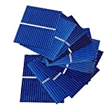 AOSHIKE 100pcs Micro Polycrystalline Silicon Solar Cell SunPanel DIY Solar Module 0.5V 0.2W 0.4A 39 x 31.2mm/1.5x1.2inch