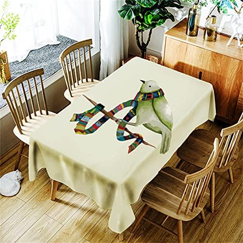 Tela De Poliéster Y Algodón Mantel Antiincrustante Rectangular Cocina Mantel Impermeable Lavable Adecuado para Mesa Cuadrada Fiesta En El Jardín Decoración De Sala De Estar 140x180cm