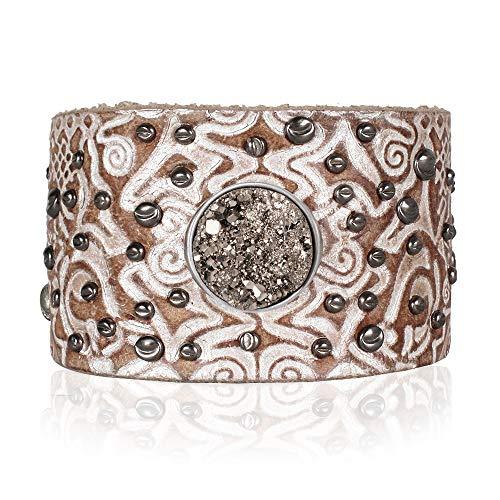 Noosa Armband patterns classic cuff wrap ohne Chunk silver, Größe:M